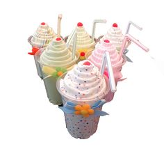 Receiving Blanket Milkshake - Unique Baby Shower Gifts and Diaper Cakes  These adorable Receiving Blanket Milkshakes make the perfect Baby Shower gift or centerpiece!     This listing is for ONE Milkshake.    Ingredients:    1 Receiving Blanket   Milkshake Cup & Straw  Cellophane Bag & Coordinating Ribbon    http://www.etsy.com/shop/BabyBinkz