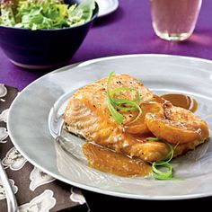 Salmon with Satsuma-Soy Glaze | CookingLight.com