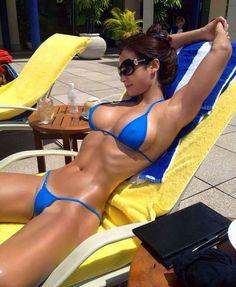 #blue #bikini