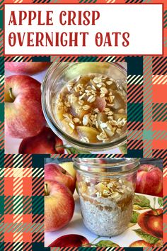 My Recipes, Gluten Free Recipes, Apple Crisp, Overnight Oats, Super Easy, Oatmeal, Vegan, Breakfast, Food