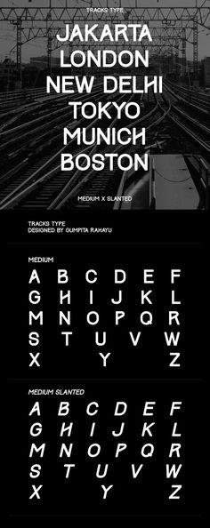 Track font