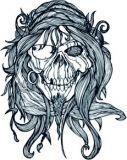 Gritty Pirate Skull Tattoo