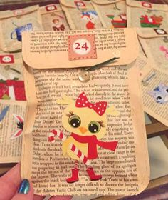 Advent Envie Close Up #2 - Picture 3 of 3   Homemade Book Pa…   Flickr Diy Advent Calendar, Countdown Calendar, Homemade Books, Holiday Countdown, Programming For Kids, Book Pages, Close Up, Christmas Stockings, Make It Yourself