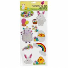 Easter wrap and bag set poundland easter pinterest easter handcrafted easter stickers 10 pack easter gifts cards easter negle Images