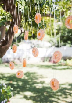 donuts on a string birthday party game
