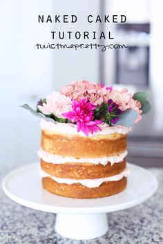 Naked cake from Twist Me Pretty