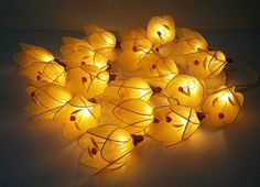 string lights yellow tulip cute nice 20 flowers gift by candoall