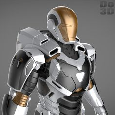 3D Printable Suit: Mark XXXVIIII Gemini Armor (Model: MK 39) from Iron Man 3 (2013) | File Formats: STL OBJ – Do3D.com
