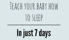 Following a few easy steps in just 7 days and our little girl has a sleep routine, sleeps through the night and can fall asleep on her own!