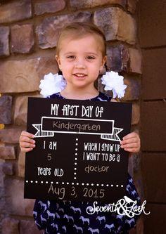 Premier jour d'école signe - Chalkboard signe - KIT DIY - Craft Kit - créez votre propre - signe réutilisable - Back to School - Do it Yourself Kit