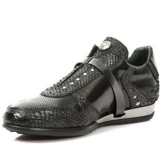 Black Leather Serpentia Hybrid Dress Shoes-Quality Black leather dress shoes with a touch of serpent skin! Easy comfortable zip and velcro fastener. Metal on the heels. Available in all Unisex Sizes. High Top Sneakers, Dress Shoes, Ships, Black Leather, Touch, Unisex, Metal, Heels