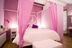Gorgeous Pink Bedroom...Discover more decor and organizing ideas for babies to teens @ http://kidsroomdecorating.net