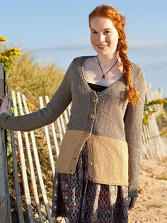 This two toned, light weight, button - up cardigan features a beautiful v-neckline with garter stitch finishing. This free pattern is available exclusively as a print-friendly PDF file - it's easy to read and requires less paper when printed. To download the pattern, just click the PDF link above. Trouble getting the PDF? Make sure you've downloaded the latest version of the freeAdobe Reader software.
