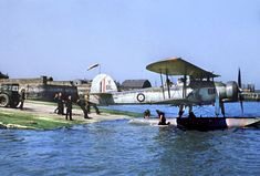 This version of the 'Stringbag' on floats, probably snapped before the war. Fairey Swordfish, Marina Bay Sands, Air Force, Aircraft, War, Diorama Ideas, Radios, Travel, Airplane