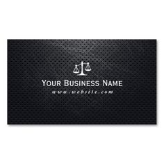 Cool Dark Metal Lawyer/Attorney Business card. This great business card design is available for customization. All text style, colors, sizes can be modified to fit your needs. Just click the image to learn more!