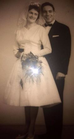 My grandmother and my grandfather on ther weddingday <3