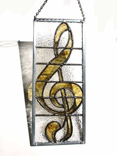 G clef musical note stained glass by DesignsStainedGlass on Etsy, $49.00