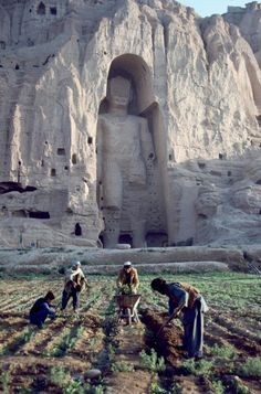 Bamiyan, Afghanistan. The Taliban is responsible for the destruction of these 6th century statues in 2010. They were considered an un-Islamic human form.