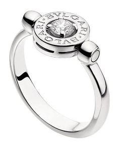 bvlgari bulgari inspired 14ct white gold and diamond flip ring