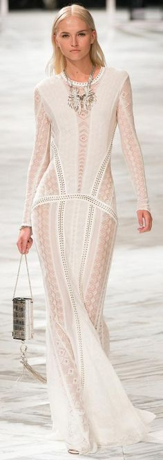 Roberto Cavalli Spring 2014 RTW Collection (obviously w/ a different under layer color, though)
