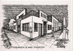 buildings in two point perspectiv | Two Point Perspective: Street Drawing in INTRO TO ART Forum
