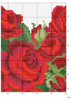 Rose heart c. stitch- upper middle- #4 graph