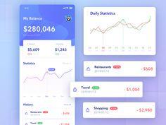 Wallet app-02 app statistics design daily wallet bank app ui