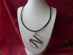 Leather choker with pendant by GilliansJewellryBox on Etsy, $15.00