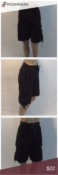 """STYLE & CO Ladies Capris STYLE & CO Ladies Capris, Size 14, 97% cotton, 3% spandex, machine washable. Ties at waist & hems, embroidery on front pockets. Approximate measurements are 18 3/4"""" waist laying flat, 21 1/4"""" waist to hem, 11 1/2"""" waist to crotch, 11"""" inseam, 3 1/2"""" zipper. 10948 Style & Co Pants Capris"""