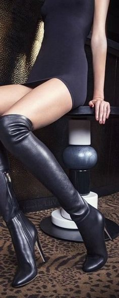 (119.00$)  Know more  - 2017 fashion PU leather over knee boots women pointed  toe elastic stretch thick heel thigh high riding  winter boots