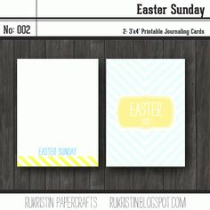 Free Easter Project Life Printables from @Kristin :: Teal White Garden :: Teal White Garden :: Teal White Garden Tweedale