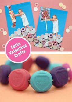 Kids crafts for Valentine's Day from Lotta Magazine's blog.