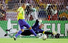 Brazil 2 Germany 0 in 2002 in Yokohama. Ronaldo pounces on a loose ball and scores in the 67th minute. 1-0 Brazil in the World Cup Final.
