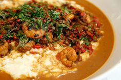 Celebrity Chefs Recipes: Tanya Holland's Creole BBQ Shrimp & Grits   Celebrity Chefs Recipes   Bay Area Bites   KQED Food