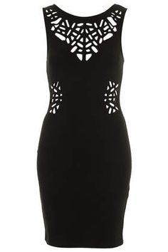 Laser Cut Bodycon Dress