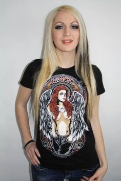 Camiseta Chica MC Angel Round