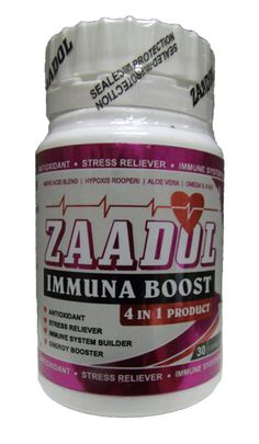 ZAADOL IMMUNA BOOST CAPS 30 How To Relieve Stress, Aloe Vera, Health, Food, Salud, Health Care, Essen, Healthy, Yemek