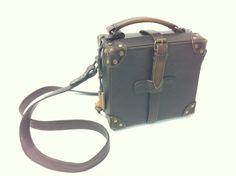 Vintage Style Leather Satchel Men's/Women's | eBay