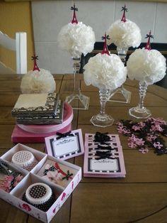 "Shabby Brocante: Table decrations for Lucie's ""Paris"" party."