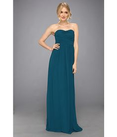 $230 Donna Morgan Strapless Chiffon Gown - Stephanie Victorian Jade - Zappos.com Free Shipping BOTH Ways