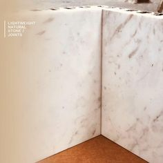 """A high-quality finish of the edges and joints of the Stonesize marble and stone panels allows us to obtain a """"solid"""" effect without sacrificing lightness. The main benefit of Stonesize marble and natural stone panels is weight reduction. Big / Light / Fast / Strong / Removable / Natural⠀⠀ 🌐 Stonesizepanels.com New York, London, Madrid, París, Miami, Barcelona, Marbella. Stone Panels, Marble Stones, Natural Stones, Benefit, Madrid, Miami, Barcelona, Strong, Interiors"""