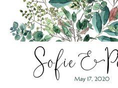 Botanical Wedding Guest Book alternative Modern greenery | Etsy