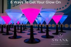 8 Glow in the Dark Party Theme Ideas – LED Martini Drinks from Swank Productions – mazelmoments.com