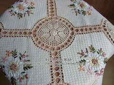 aeProduct.getSubject() Filet Crochet, Knit Crochet, Wedding Tablecloths, Table Overlays, Manta Crochet, Crochet Tablecloth, Cotton Crochet, Cross Stitch Patterns, Needlework