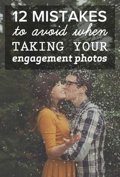 12 types of engagement photos to avoid; most of these I agree with, with the exception of props. Props can be great when done right!
