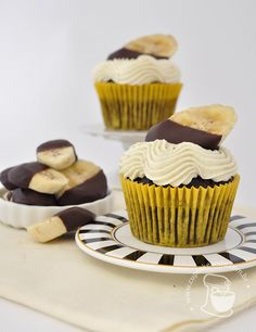 Chocolate & Banana Cupcakes