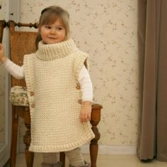 This is a crochet pattern for simple poncho Scarlett. The poncho has a ribbed collar and it fastens with buttons on sides, the edges make cute cap sleeves. Perfect poncho for a little boy or girl in simple stitch pattern. Baby Knitting Patterns, Kids Poncho Pattern, Crochet Poncho Patterns, Crochet Stitches, Kids Patterns, Crochet Edgings, Scarf Patterns, Crochet Motif, Crochet For Kids