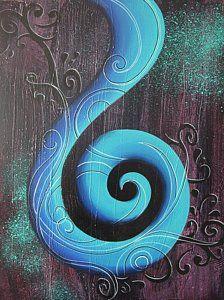 Koru Painting - Tahi by Reina Cottier Spirals In Nature, Christmas Paintings On Canvas, Maori Designs, New Zealand Art, Nz Art, Abstract Geometric Art, Maori Art, Kiwiana, Fractal Art