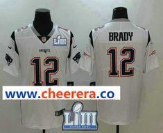 0ae33f51c Men s New England Patriots  12 Tom Brady White 2019 Super Bowl LIII Patch  Vapor Untouchable Stitched NFL Nike Limited Jersey