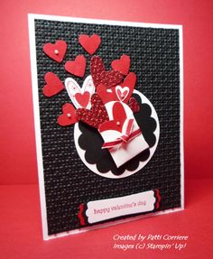love black cards (use stars or balloons instead of hearts for a male card)